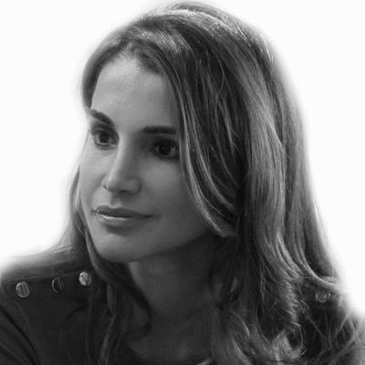 Queen Rania of Jordan Headshot