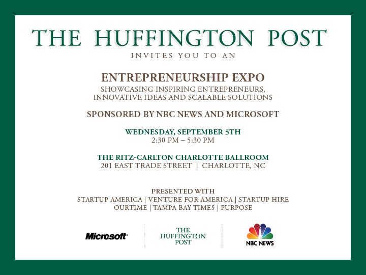 The Huffington Post Entrepreneurship Expo Invitation